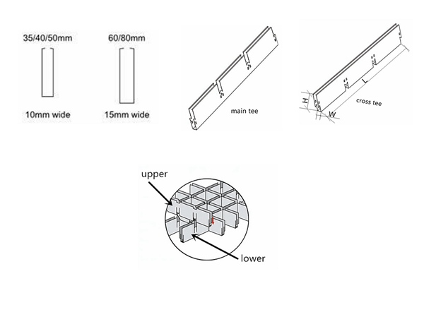 Metal Ceiling Panel Product drawing